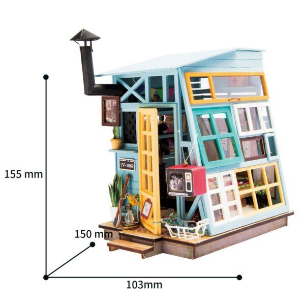 wooden hut robotime diy miniature dollhouse kit 9